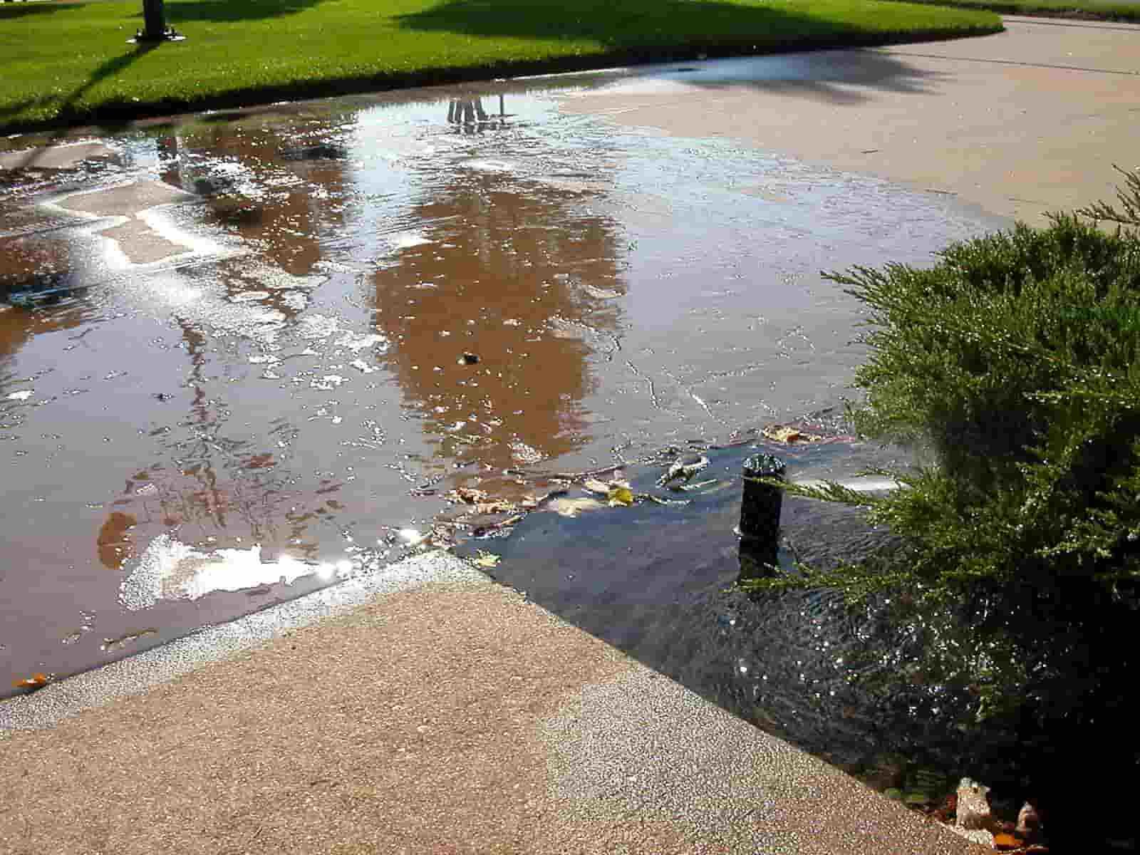 Sprinkler pipe leaks